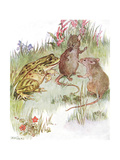'Was Chatting with Pretty Miss Mouse', Illustration from 'The Mischievious  Gicleetryck av Anne Anderson