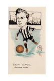 Colin Veitch, Newcastle United, Drawing for a Set of Cigarette Cards, 1907 Giclee Print by  Rip