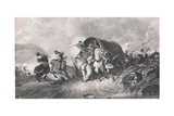 An Attack on a Baggage Wagon: an Incident at the Battle of Naseby, Illustration from 'British… Giclee Print by A. Copner
