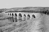 Troops Crossing a Bridge, 1917 Photographic Print by  English Photographer