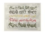 17 Reclining Figures, 1963 Giclée-tryk af Henry Moore