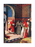 The Last Council of Boabdil at the Alhambra, 1492, Illustration from 'Hutchinson's History of the… Giclee Print by John Harris Valda