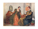 Portia and Nerissa, Illustration from 'The Merchant of Venice', c.1910 Giclee Print by Sir James Dromgole Linton