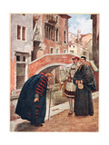 'With Bated Breath and Whispering Humbleness', Illustration from 'The Merchant of Venice', c.1910 Giclee Print by Sir James Dromgole Linton