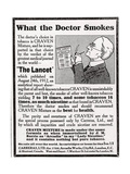 Advertisement for 'Craven Mixture Tobacco', 1910s Giclee Print by  English School
