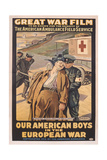 Poster Advertising the Film 'Our American Boys in the European War' Giclee Print by Victor Francois Tardieu