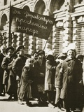 Russian Children Demonstrate for Education and a Better Life, February 1917 Photographic Print by  Russian Photographer