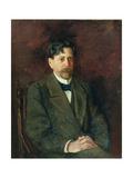 Portrait of the Poet Innokenty Annensky (1856-1909), 1904-09 Giclee Print by Anton Nikolayevich Kurbatov
