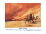 The Scourge of the Desert, Illustration from 'Wonders of Land and Sea', Published by Cassell,… Giclee Print by Arthur Twidle