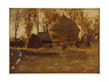 Sussex Hayricks, 1917 Giclee Print by Henry Herbert La Thangue