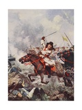 Frederick William, the Great Elector, at Fehrbellin Giclee Print by John Harris Valda