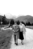 Prime Minister Antonio Segni on Holiday with His Wife, August 1959 Photographic Print