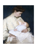 Nursing the Baby, 1906 Giclee Print by Lilla Cabot Perry