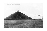 The Butte Du Lion (Lion's Mound) and the Panorama at Waterloo, Commemorative Postcard, c.1912 Giclee Print by  Belgian Photographer