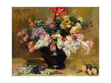 Amaryllis, Lilac and Tulips, 1911 Giclee Print by Lovis Corinth