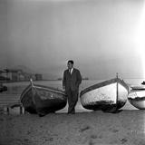 Giuseppe Marotta in Naples, 23rd November 1956 Fotografie-Druck
