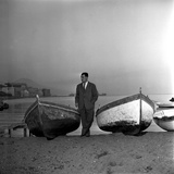 Giuseppe Marotta in Naples, 23rd November 1956 Photographic Print