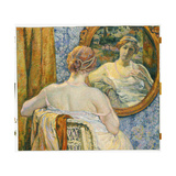 Woman in a Mirror, 1907 Giclee Print by Théo van Rysselberghe