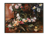 Roses, 1910 Giclee Print by Lovis Corinth
