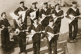 The Balalaika Band, Keeping Up the Spirits of the Russian Navy, from 'The Illustrated War News' Photographic Print by  Russian Photographer