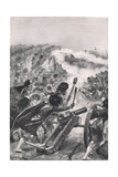 The Highlanders Turning the Captured French Guns on Brenniers Battalions, Illustration from… Giclee Print by Richard Caton Woodville