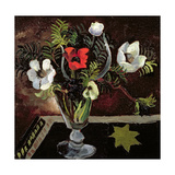 Anemones in a Glass Giclee Print by Christopher Wood