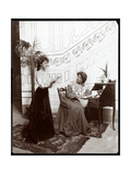 Two Female Stage Hands on a Stage Set, Acting, New York, 1904 Giclee Print by  Byron Company