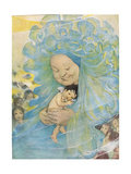 Mrs Doasyouwouldbedoneby, Illustration for 'The Water Babies' by Reverend Charles Kingsley Giclee Print by Jessie Willcox-Smith