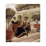 Lorenzo and Jessica, Illustration from 'The Merchant of Venice', c.1910 Giclee Print by Sir James Dromgole Linton