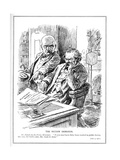 Lloyd George Is Rebuked by Mr. Punch over the Report on the British Invasio Giclee Print by Leonard Raven-hill