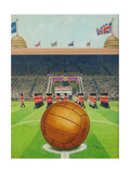 Wembley Stadium on Big Match Day Giclee Print by  English School