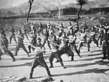 Chinese Boxer Soldiers Drilling, 1900 Photographic Print by  Chinese Photographer
