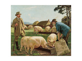 Farmyard Scene, 1927 Giclee Print by William Gunning King