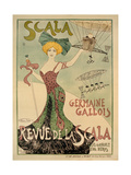 Revue de La Scala Poster, 1901 Giclee Print by Maurice Biais