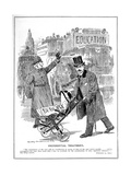 Lloyd George Shows Preferential Treatment for His 'Baby', the Budget, 1909 Giclee Print by Edward Linley Sambourne