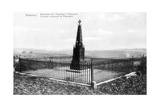 The Prussian Memorial at Plancenoit, Commemorative Postcard c.1912 Giclee Print by  Belgian Photographer