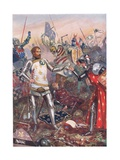 The Surrender of John II of France at the Battle of Poitiers, Illustration from 'British Battles… Giclee Print by John Cameron
