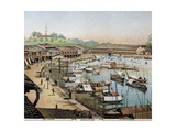 Singapore's Riverside, What Is Now Boat Quay Giclee Print