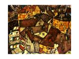 Egon Schiele - Krumau Town Cresent, 1915 - Giclee Baskı