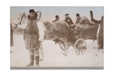 Farmers from Congress Poland (Russian Poland) with a Horse and Cart, 1916 Giclee Print by  German photographer