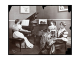 Piano Recital, New York, 1907 Giclee Print by  Byron Company