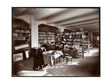 Woman and a Young Man in a Library of the Museum of Safety Appliances of th Giclee Print by  Byron Company