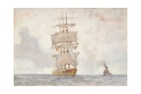 Barque and Tug, 1922 Giclee Print by Henry Scott Tuke