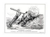 Lloyd George and Bonar Law Try to Solve the Irish Question with the Help of the Coalition… Giclee Print by Leonard Raven-hill