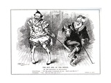 Lloyd George, as President of the Board of Trade, Protecting British Industry Against German… Giclee Print by Leonard Raven-hill