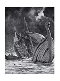 The Loss of the White Ship in 1120, Illustration from 'Hutchinson's Story of the British Nation',… Giclee Print by Cecil King