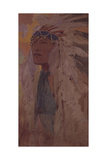 The Indian, 1904 Giclee Print by Alphonse Marie Mucha