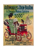 Advertisement for de Dion-Bouton Automobiles, c.1900 Giclee Print by  French School