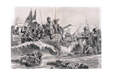 The Landing of the British Troops in Aboukir Bay, Illustration from 'British Battles on Land and… Giclee Print by Richard Caton Woodville
