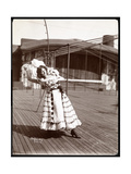 An Actress in Costume Rehearsing on the Roof of What Is Probably the New York Theatre, New York,… Giclee Print by  Byron Company